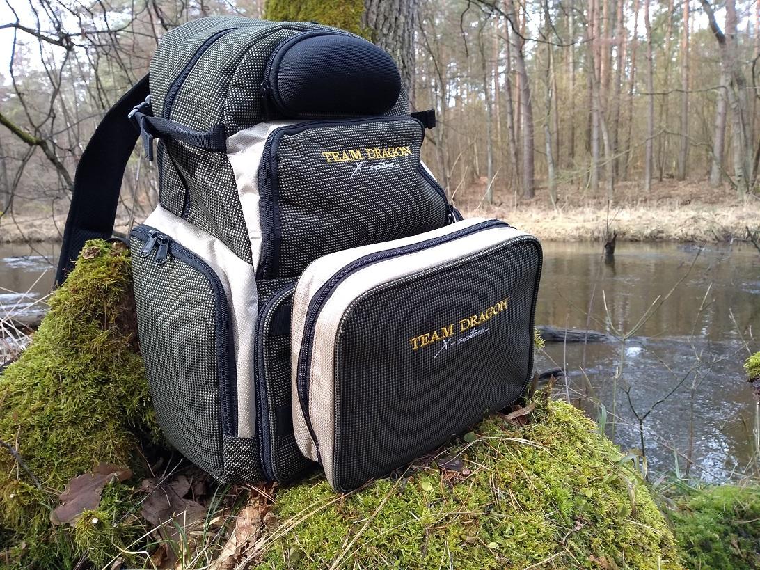 Plecak spinningowy Plecak wędkarski godny polecenia: Dragon X-system
