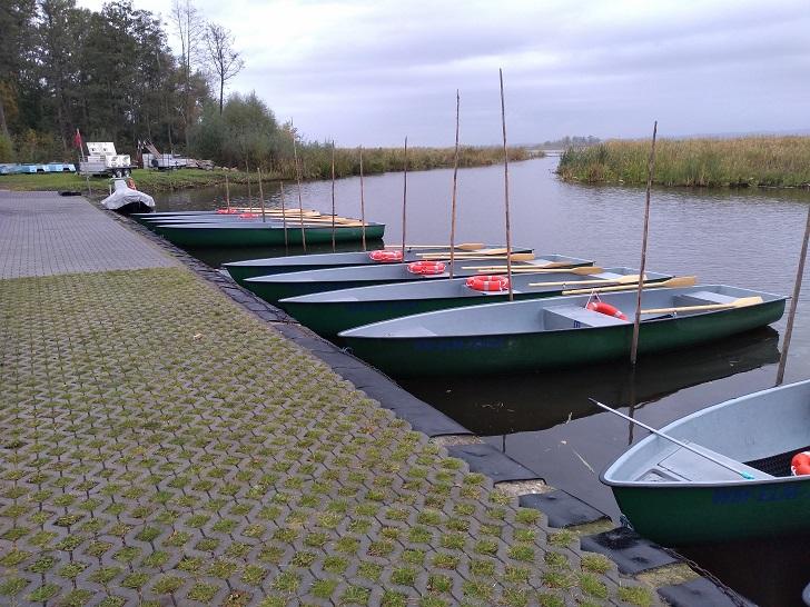 jezioro Drużno łódki