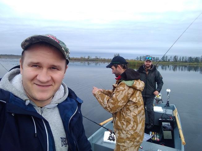 Wędkarze jezioro Drużno